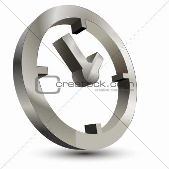 3d time clock symbol