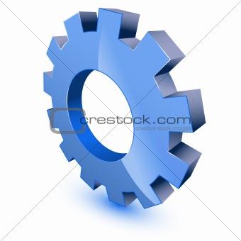 3d gear wheel symbol
