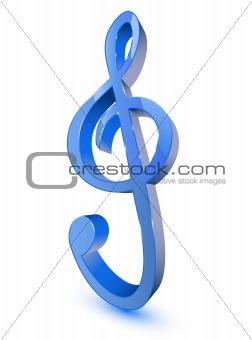 3d treble clef symbol