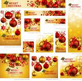 Collection of Christmas banners
