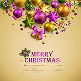 Beautiful christmas background with place for text.