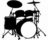 Drum kit silhouette