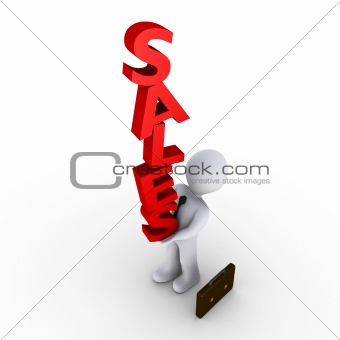 Businessman carrying sales