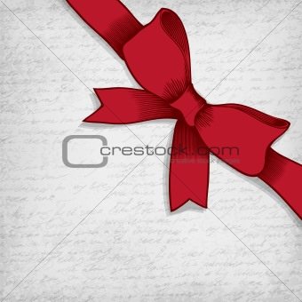 Red bow-knot vector illustration.