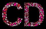 Letter C, D. Valentine alphabet