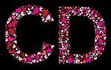 Letter C, D. Valentine alphabet