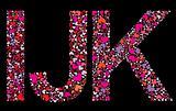 Letter I, J, K. Valentine alphabet
