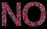 Letter N, O. Valentine alphabet