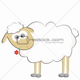 Cute sylized sheep