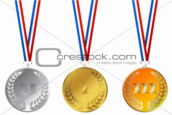 Set of champions medals