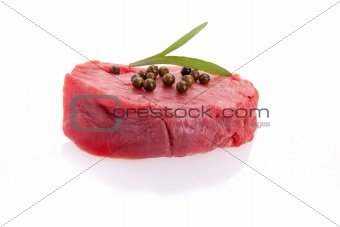 Raw Tenderloin With Green Pepper