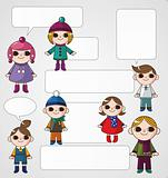 winter children card