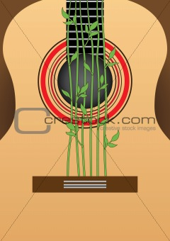 Guitar. Decorative ornament.
