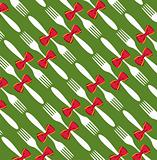 Christmas cutlery pattern background