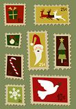 Christmas postage stamps set 