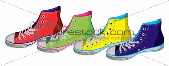Teenager sneakers isolated