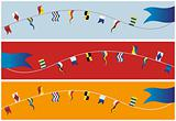 Banner of nautical flags.