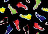 Teenager sneakers pattern.