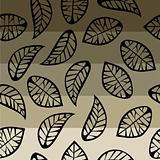 Leaves on degrade background