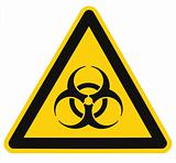 Biohazard symbol sign of biological threat alert isolated black yellow