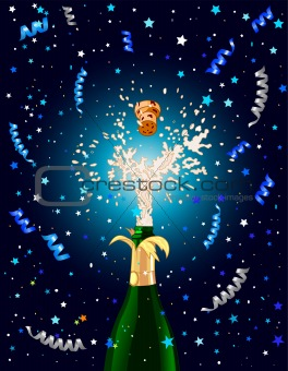 Celebration background with Champagne