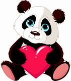Cute Panda with heart