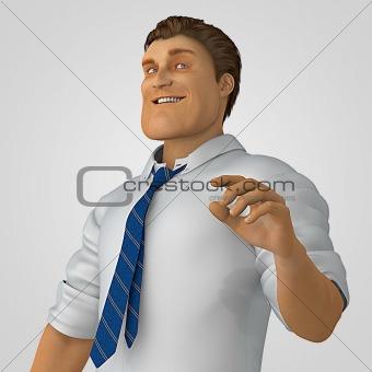 Cartoon office man