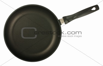 Black frying pan top view