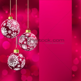 Background with stars and Christmas balls. EPS 8