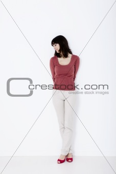 Beautiful woman standing