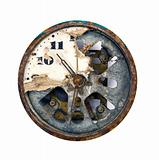 grunge and broken clock dial