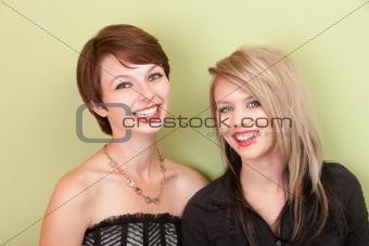 Smiling punky looking teens