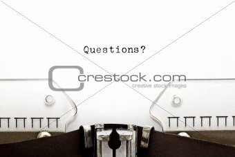 Questions on Typewriter