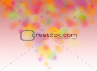 Abstract rose color circle background