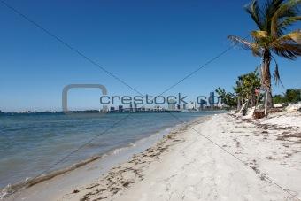 A small beach on the Miami Keys