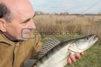 fisherman and his catch