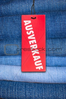 Jeans With German Sale Tag
