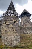Ruins of Nevitskiy castle near Uzhgorod