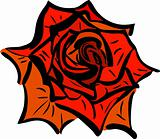 sketch of rose flower garden plants