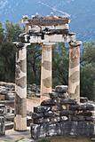 Delphi oracle archaeological site in Greece