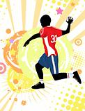 Handball poster background