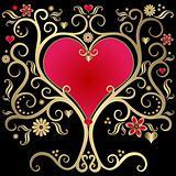 Gold valentines frame
