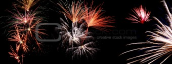 Fireworks, silvester night