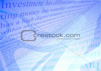 Investments conseption background