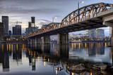 Hawthorne Bridge Across Willamette River by Portland Oregon Wate