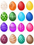 Easter eggs big set