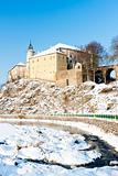 Ledec nad Sazavou Castle in winter, Czech Republic