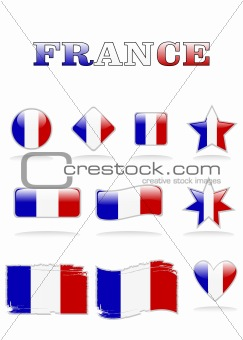 france flags button
