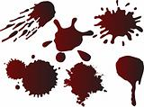vector blot blood set