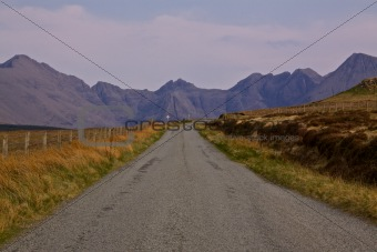 Narrow road on Isle of Skye